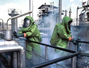 Urządzenia służące poprawie bezpieczeństwa pracy w przypadku narażenia na szkodliwe czynniki biologiczne, chemiczne